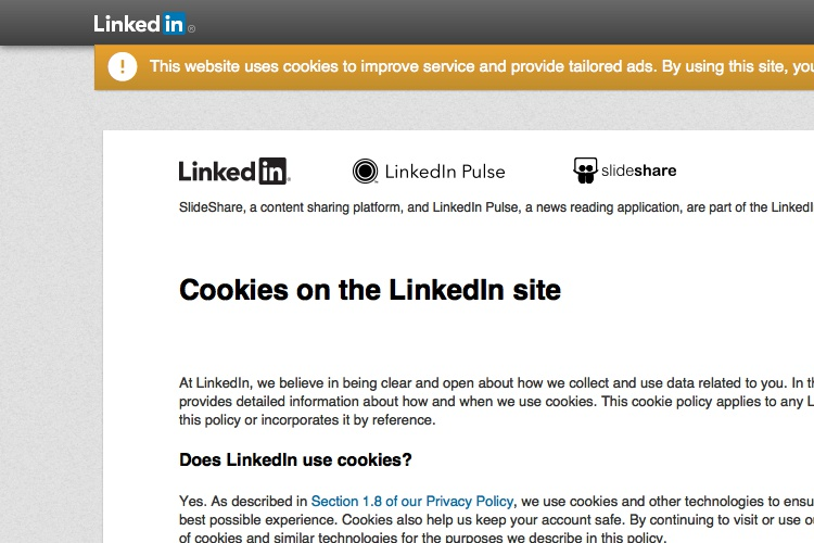 Cookies Policy Of LinkedIn